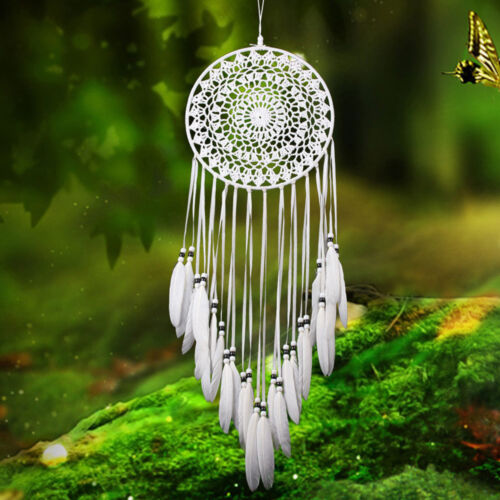 Handmade Lace Dream Catcher Car Home Wall Hanging Decor Decoration With Feathers