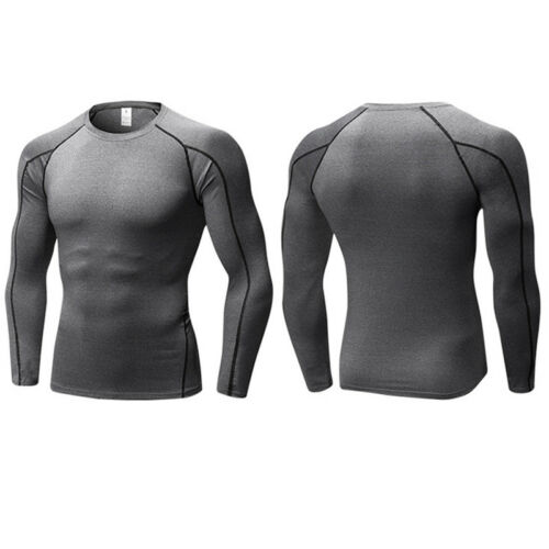 Men Camo Skinny Compression Under Base Layer Thermal Running Tight Tee Shirt Top