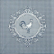 4x Paper Napkins for Decoupage Decopatch Craft Rooster Blue