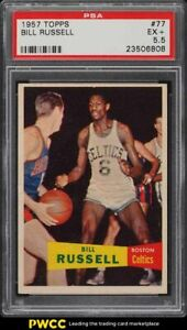 1957-Topps-Basketball-Bill-Russell-SP-ROOKIE-RC-77-PSA-5-5-EX