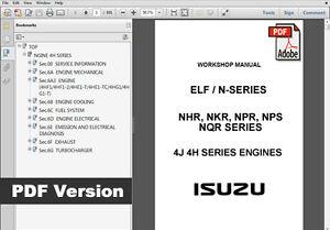 isuzu elf n series truck factory service repair workshop maintenance rh ebay com isuzu elf service manual pdf isuzu elf repair manual