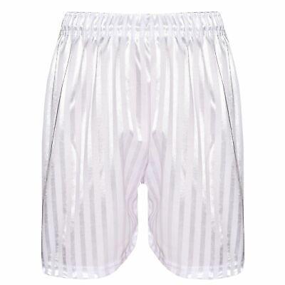 Lot de deux garçons filles enfants PE Shorts Shadow Stripe Sports Football 2-13 Ans