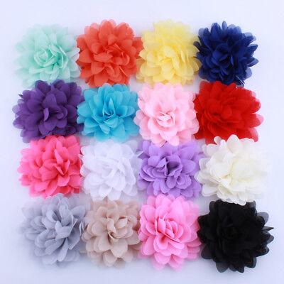 30pcs 5CM Solid Artificial Felt Flowers For Hair Accessories U Pick Colors