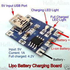 5V 1A Mini USB 1S 3.7V Li-ion Lithium Lipo Battery Charging Module Charger Board