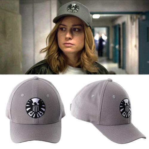 2019 Movie Captain Marvel Carol Danvers Cosplay Hat Superheroine Embroidery Caps