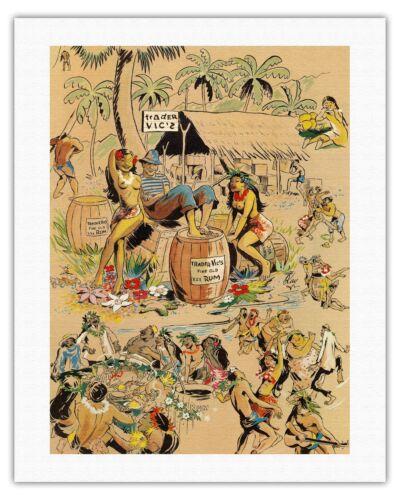 Kay 1947 Vintage Bar Menu Cover Fine Art Print Trader Vics XXX Rum