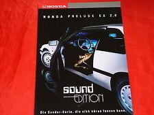 """HONDA Prelude EX 2.0 """"Sound Edition"""" Sondermodell Prospekt von 1989"""