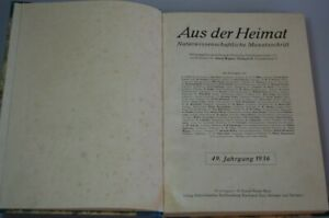 Dal Heimat Naturwissenschaftliche Giornale Mensile Del 49. Annate 1936