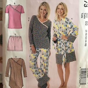 87f6bbc8fc31 McCalls pattern misses/plus size pajamas sizes 8-24W uncut robe ...