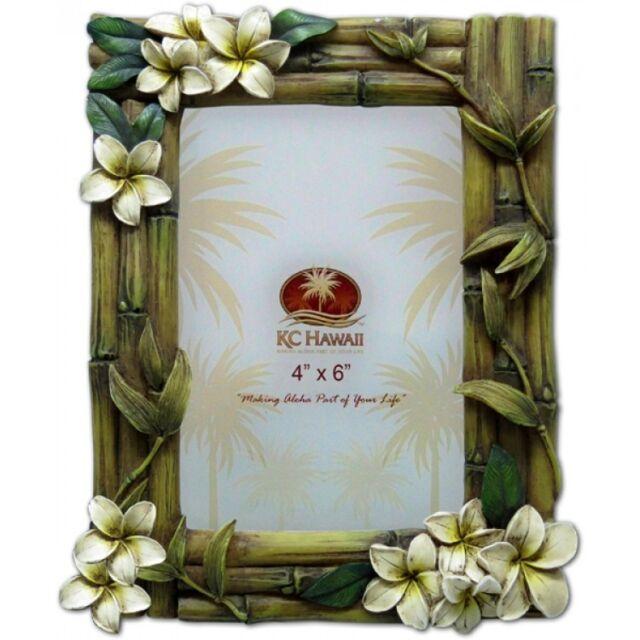 "NEW Hawaii Island Inspired Souvenir Gift Photo Frame ~ PLUMERIA 4"" x 6"" # 70122"