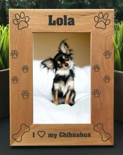 Personalized Engraved //// Chihuahua //// Picture Frame