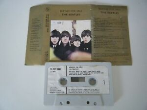 THE-BEATLES-FOR-SALE-CASSETTE-TAPE-1964-WHITE-PAPER-LABEL-PARLOPHONE-UK