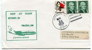 Ffc 1979 First Flight Detroit Toledo Us Balboa Canal Zone First Jet Flight Apparence Attractive