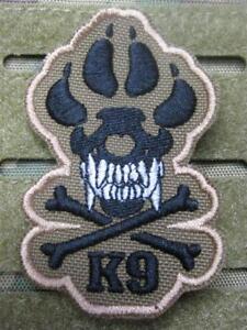 K-9 TRACKER SPÜRHUND HUND COYOTE ISAF TACTICAL MORALE  AUFNÄHER KLETT PATCH NEU