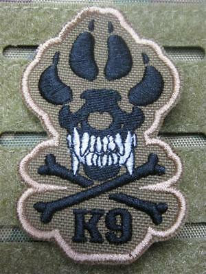 K-9 TRACKER SPÜRHUND HUND OLIV ISAF TACTICAL MORALE  AUFNÄHER KLETT PATCH NEU