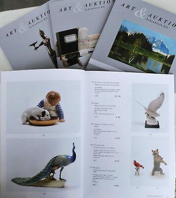 4 Kataloge Art & Auktionen, Scheublein, Nr. 20, 21, 22, 23 - 2013 +ergebnisse!