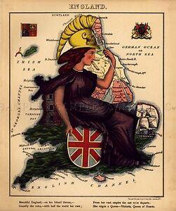 MAP ANTIQUE 1866 JOHNSON SCOTLAND IRELAND OLD LARGE REPLICA POSTER PRINT PAM0343