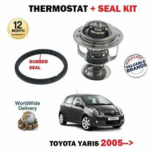 pour-TOYOTA-YARIS-1-0-VVTI-12V-2005-gt-Thermostat-Kit-Avec-Caoutchouc