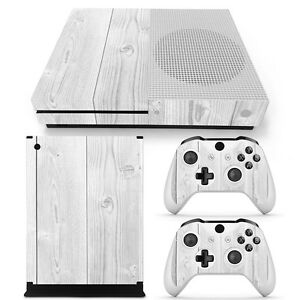 Details About Xbox One S Skin Design Foils Sticker Screen Protector Set White Wood Motif