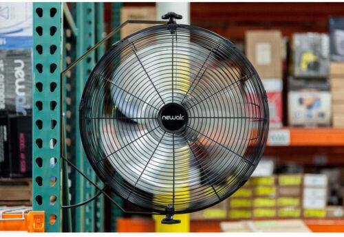 NEWAIR 18 Fan di montaggio a parete in metallo alta velocità ANGOLO INCLINAZIONE REGOLABILE 3 velocità