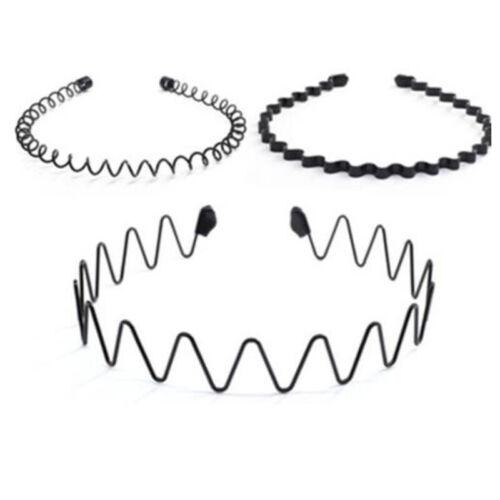 Hairband Men Hair Band Headband Aliceband Headwear Solid Color Brand New