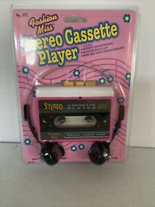 NEW Vintage Fashion Miss AM FM Stereo Cassette Player new sealed!