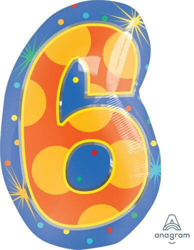 show original title Details about  /Foil BALLOON COLOURFUL NUMBERS 1-9 for Kids-approx 50 cm Figures Balloon Helium Suitable