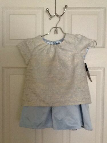 Genuine Kids Oshkosh Toddler Girls Blue Gold Top /& Skirt Set Size 2T,3T /& 4T NEW