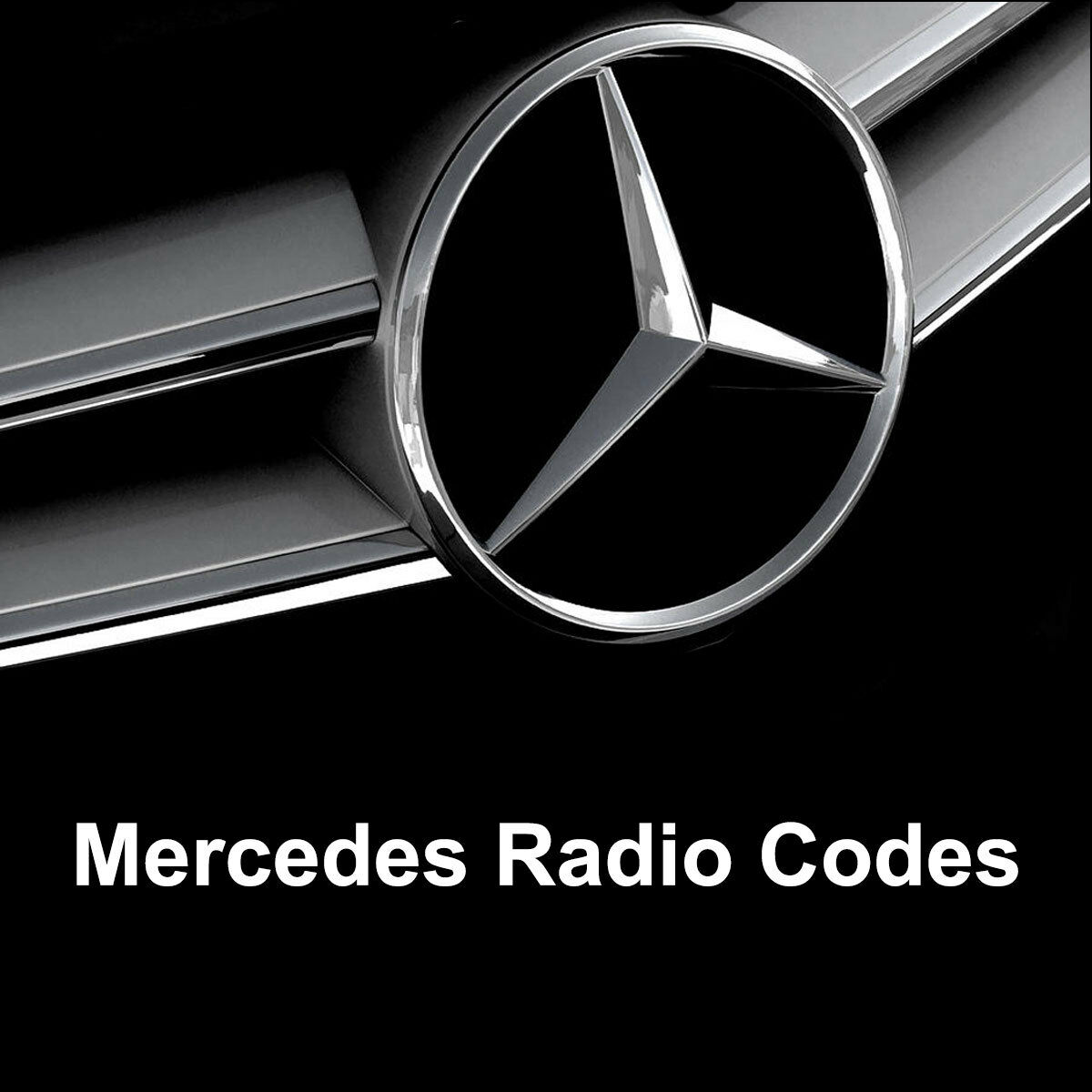 Mercedes radio code alpine audio 10 mf2910 al2910 car for Mercedes benz radio code