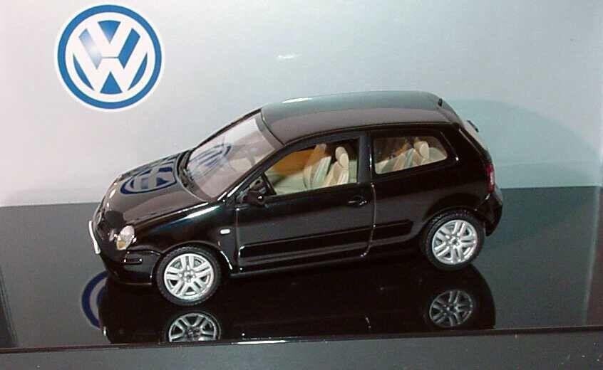 Molto RARO VW POLO 9N IV 2002 SPORT TDI FSI Nero 1 43 Autoart (modello concessionario)