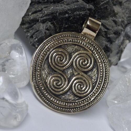 NEU sehr schöner keltischer Anhänger Triskele Triskel aus Bronze Kelten Druide