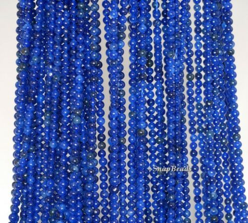 """2MM SAPPHIRE BLUE JADE GEMSTONE DARK BLUE ROUND 2MM LOOSE BEADS 16/"""""""