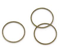 Wholesale HOT! Jewelry Bronze Tone Closed Jump Rings Findings 20mm Dia.