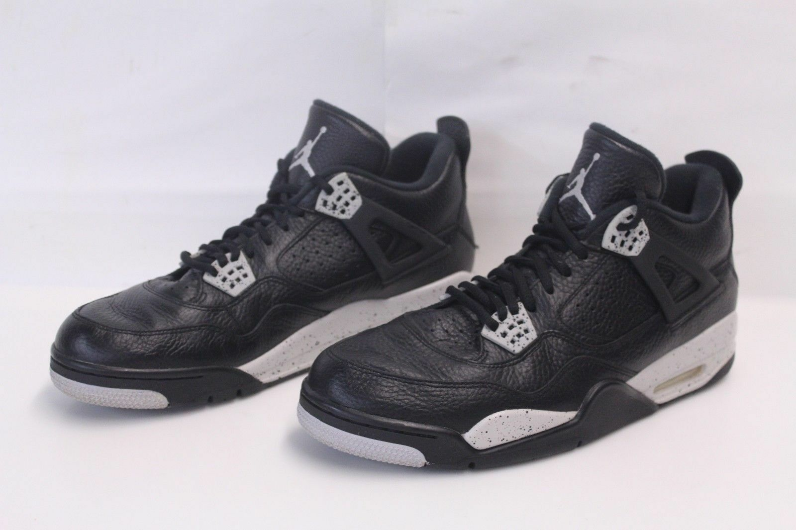 NIKE Air Jordan IV 4 Retro Oreo Black/Grey Cement 314254-003 US Men's Size 13