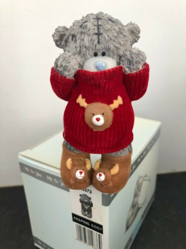 Garder confortable-RARE Me To You Noël ours dans un Renne Pull /& Chaussons figurine