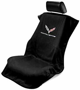 Pair Seat Armour Universal Grey Towel Front Seat Covers for Corvette C7