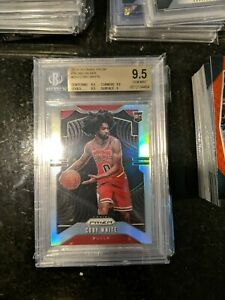 2019-20-Panini-Prizm-Silver-253-Coby-White-Chicago-Bulls-RC-Rookie-BGS-9-5