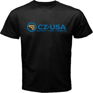 CZ-USA Firearms Handgun 1911 Pistol Police Hunting Guns Black T-shirt Size S-5XL