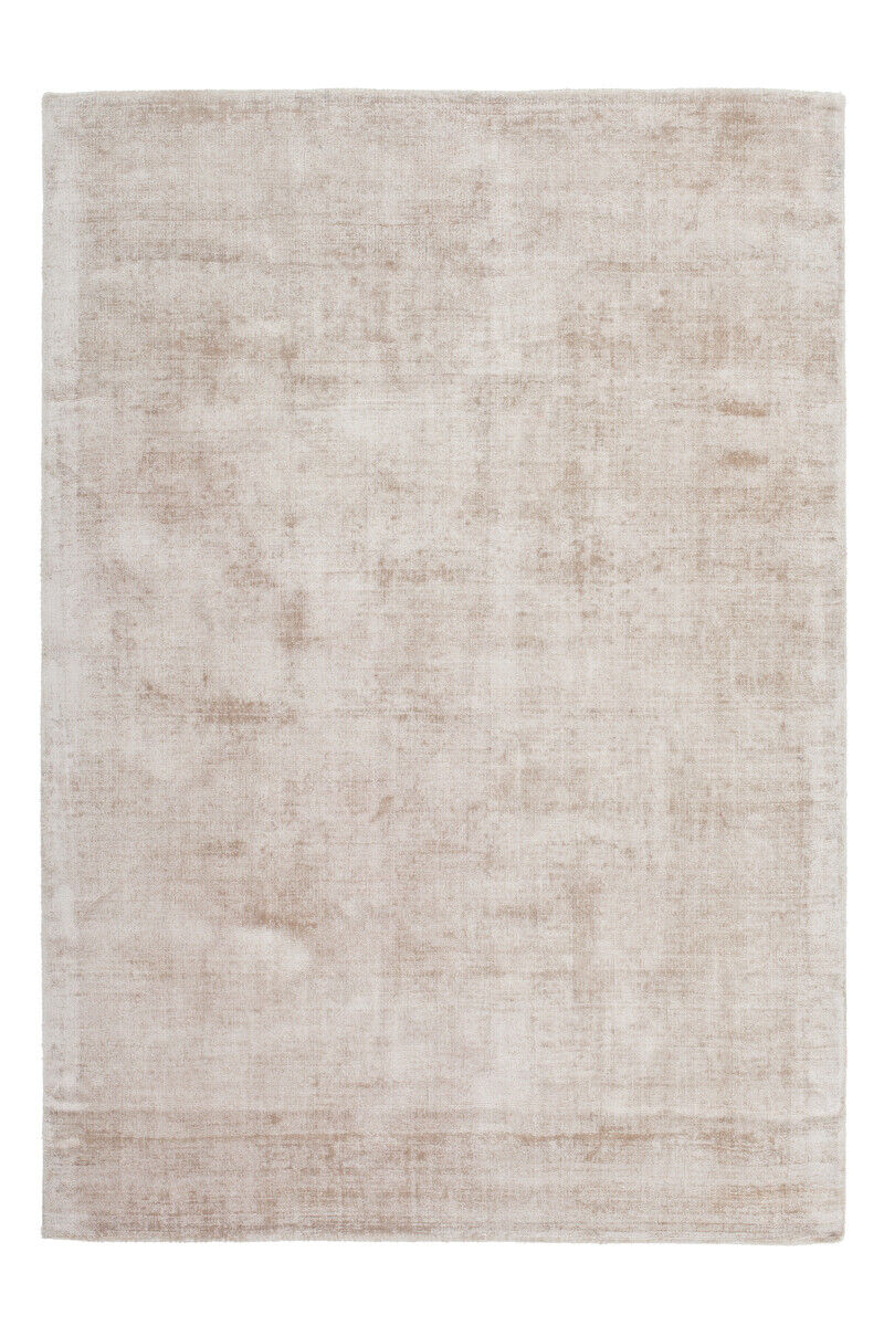 Improvisée Plat Tapis Viscose Uni Tapis Coton Beige 120x170cm