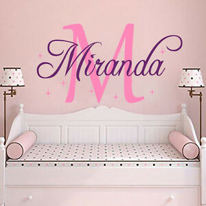 Image Is Loading Personalized Wall Decal Name Decal Girls Name Nursery