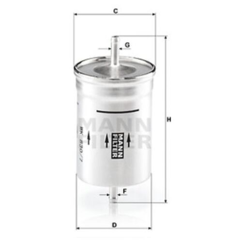 Mann WK830//7 Fuel Filter Inline 164mm Height Service Replacement Spare Part