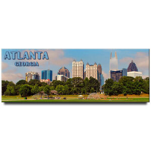 Atlanta-panoramic-fridge-magnet-Georgia-travel-souvenir