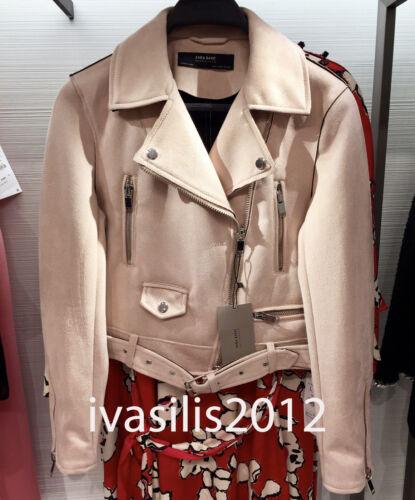 xl 022 Pink Biker Faux 6318 Ny Ref Jacket Suede Xs Kvinde Zara qxPB8ZwaZ