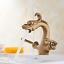 Dragon-shaped Bathroom Basin Sink Mixer Vanity Brass Faucet Double Handles Taps