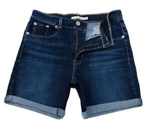 Levi-039-s-Damen-globalen-Klassische-Shorts-in-marine-dunkelblau