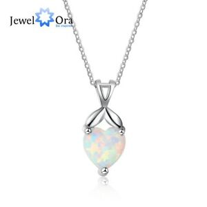 Details About Sterling Silver White Fire Opal Pendants Necklaces Party Birthday Gifts For Her