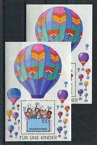2-x-Bund-Block-Nr-sauber-postfrisch-BRD-1997-Nr-1933-Fuer-uns-Kinder-MNH