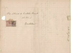 Spain 19th centuary stamps cover Ref 8368