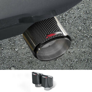 2019-2020 FOR Toyota RAV4 stainless steel carbon fiber car rear exhaust pipe 2PC