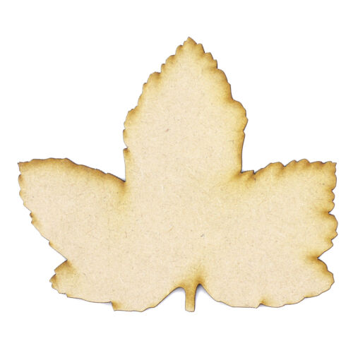 Craft Blanks Sycamore Leaf cut from 3mm MDF Shapes Tags Autumn Leaf